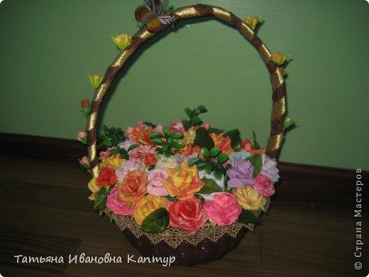 Наплела и накрутила. розы по мк Астории фото 1