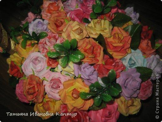 Наплела и накрутила. розы по мк Астории фото 10
