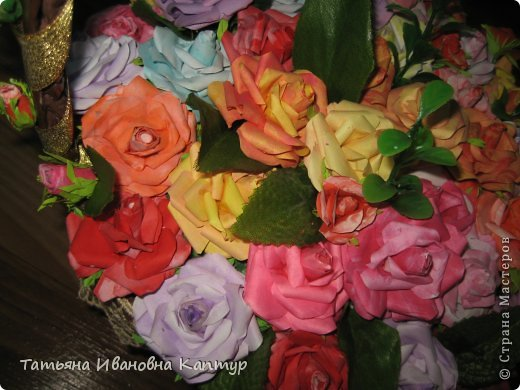 Наплела и накрутила. розы по мк Астории фото 7