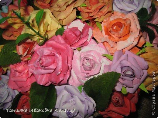 Наплела и накрутила. розы по мк Астории фото 4