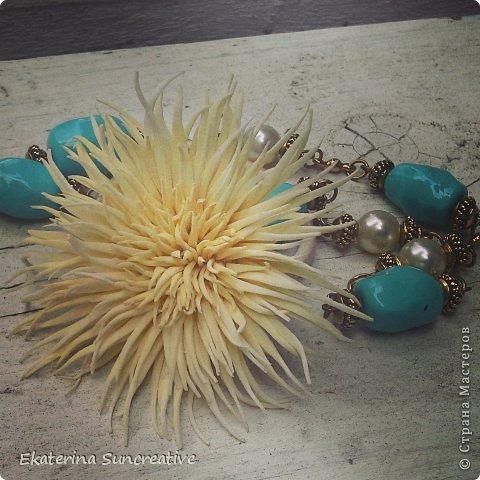 Моя винтажная хризантема.. Резиночка, сделана на заказ.