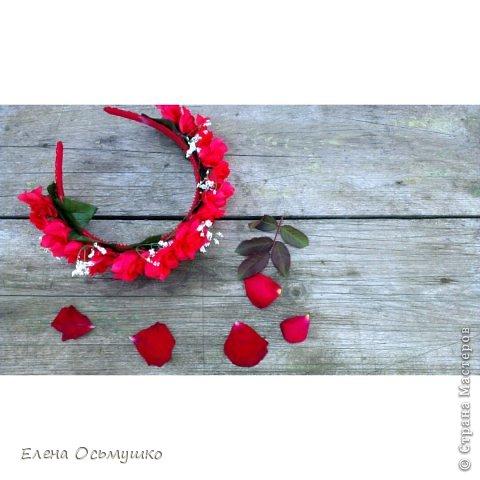 Ободки цветочные фото 4
