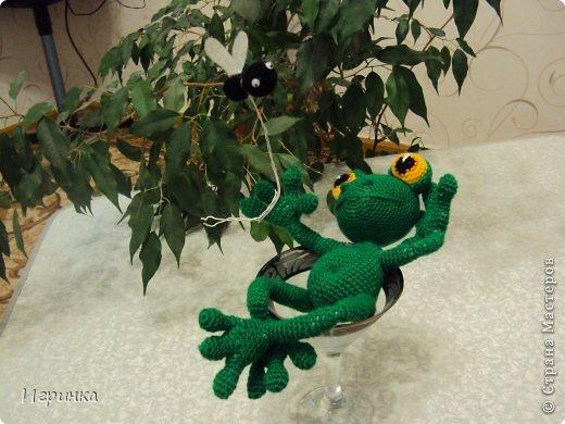 """Здравствуйте друзья! Продолжая серию композиций на тему о том, что жизнь хороша, представляю Вам этого довольного жизнью лягушонка. Автор идеи и описания Александра Захарова (Меджик). Она назвала ее """"Жизнь прекрасна!"""" фото 3"""