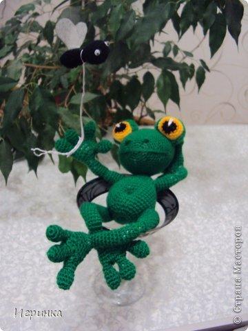 """Здравствуйте друзья! Продолжая серию композиций на тему о том, что жизнь хороша, представляю Вам этого довольного жизнью лягушонка. Автор идеи и описания Александра Захарова (Меджик). Она назвала ее """"Жизнь прекрасна!"""" фото 1"""