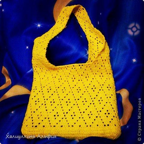 Вот такая цыплячье-желтая сумка у меня получилась. фото 1