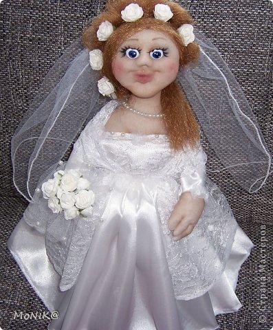 Здравствуйте всем !!!! Представляю на ваш суд мою невестушку. Дама получилась современная  как сказали с ботексом ))) фото 3