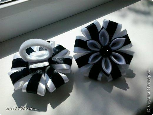 Мастер-класс Начало учебного года Моделирование конструирование Цумами Канзаши школьные бантики МК +мои новые работы 85 фото  Ленты Пуговицы фото 3