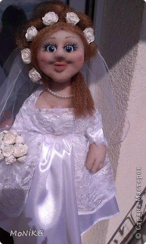 Здравствуйте всем !!!! Представляю на ваш суд мою невестушку. Дама получилась современная  как сказали с ботексом ))) фото 1
