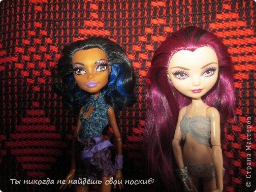 """Совсем недавно, в 2013 году появились новые куклы-Ever After High """" Школа """"Долго и Счастливо"""" """" Производитель у них один-"""" Mattel """" И сейчас мы их сравним. Первое, что я заметила- ЕАХ тяжелее МХ. фото 3"""
