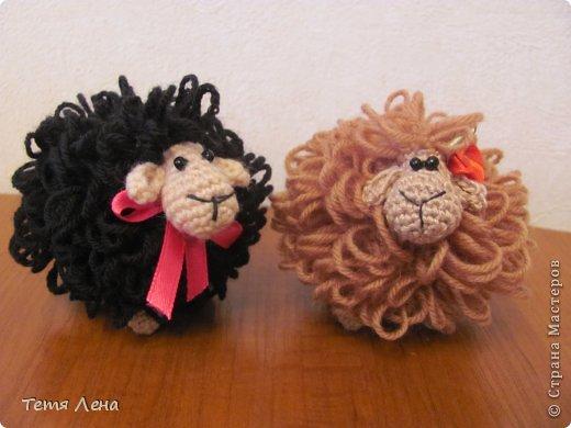 Игрушка Мастер-класс Новый год Вязание крючком БОНУС  Ма-а-ааленькая овечка Пряжа фото 11