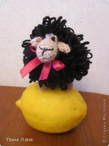 Игрушка Мастер-класс Новый год Вязание крючком БОНУС  Ма-а-ааленькая овечка Пряжа фото 3