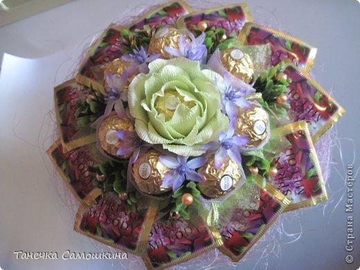 Цветы из чая и конфет мастер класс