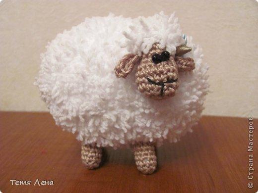 Игрушка Мастер-класс Новый год Вязание крючком БОНУС  Ма-а-ааленькая овечка Пряжа фото 13