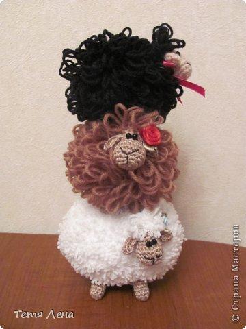 Игрушка Мастер-класс Новый год Вязание крючком БОНУС  Ма-а-ааленькая овечка Пряжа фото 1