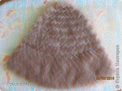 Шляпка (56 размер) с широкими полями на плоском шаблоне. фото 7