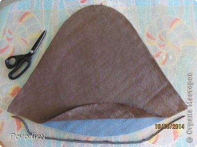 Шляпка (56 размер) с широкими полями на плоском шаблоне. фото 12