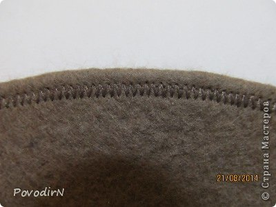 Шляпка (56 размер) с широкими полями на плоском шаблоне. фото 26