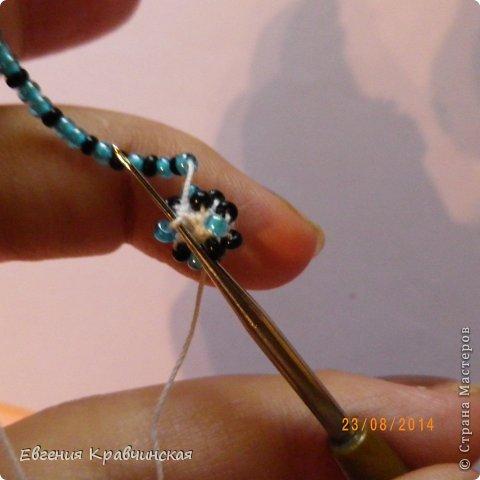 Мастер-класс Украшение Вязание крючком Серьги из бисера крючком Бисер Нитки фото 14