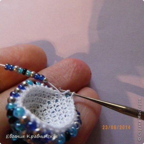 Мастер-класс Украшение Вязание крючком Серьги из бисера крючком Бисер Нитки фото 19