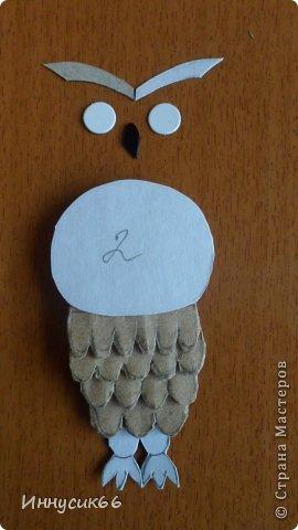 Привет всем!!!Сегодня я покажу как просто можно сделать сову из картона.Вот такие две совушки теперь живут у меня дома!Рыженькая живёт на ключнице http://stranamasterov.ru/node/802087 а вторая,чёрненькая, на холодильнике. фото 25