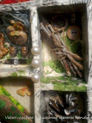"""ДРУЗЬЯ, приветик!!!!!! Наконец то я могу показать работы, которые готовила для замечательной мастерицы Тхоривской Ирины (Тхоривская Ирина)!!! По игре *Дамские хитрости, которую проводит https://stranamasterov.ru/user/242744, Леночка спасибо, очень приятно и дарить и получать сюрпризы! Ириша уже написала, что посылочку получила, мне очень греет душу, что сюрпризики пришлись по душе!!!  Маленькую частичку подарочка я уже показывала здесь(https://stranamasterov.ru/node/798678#photo1) А это уже основное: И так, Вашему вниманию шкатулочка """"Павлин"""": фото 18"""
