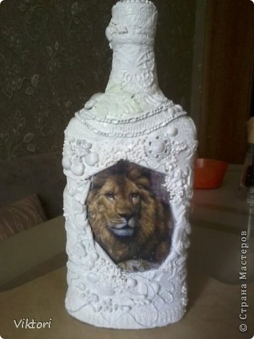 Мастер-класс Бутылки с объёмом  фото 11