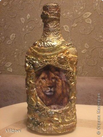 Мастер-класс Бутылки с объёмом  фото 15