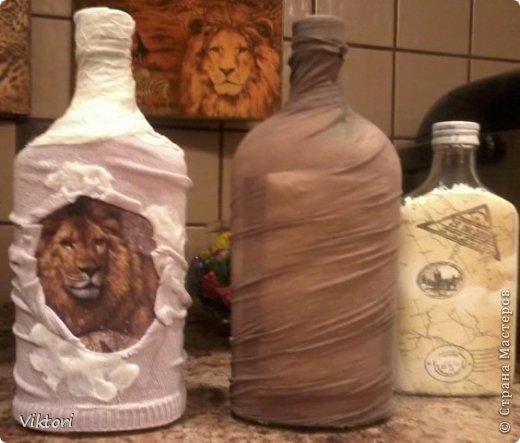 Мастер-класс Бутылки с объёмом  фото 27