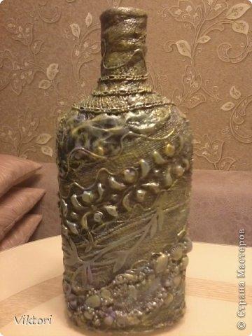 Мастер-класс Бутылки с объёмом  фото 35