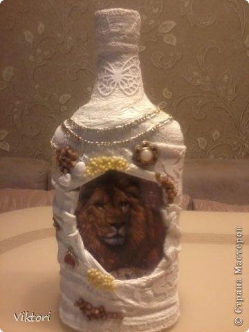 Мастер-класс Бутылки с объёмом  фото 7