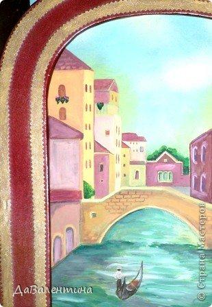Картина панно рисунок Мастер-класс Моделирование конструирование Картина из кожи Венеция  Мастер-класс Кожа фото 36