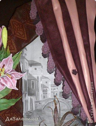 Картина панно рисунок Мастер-класс Моделирование конструирование Картина из кожи Венеция  Мастер-класс Кожа фото 54