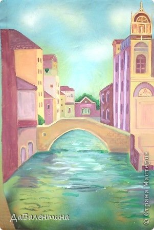 Картина панно рисунок Мастер-класс Моделирование конструирование Картина из кожи Венеция  Мастер-класс Кожа фото 32