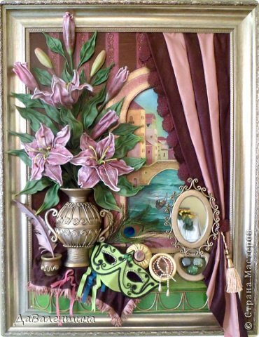 Картина панно рисунок Мастер-класс Моделирование конструирование Картина из кожи Венеция  Мастер-класс Кожа фото 1