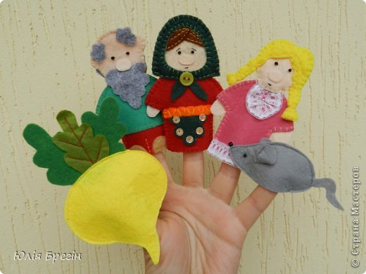Сделала комплект фигурок пальчикового театра для садика, куда дочка начала ходить. Таким комплектом можно играть в несколько сказок, очень удобно. фото 5