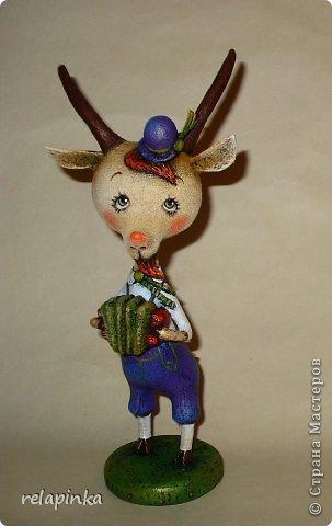 Игрушка Мастер-класс Новый год Папье-маше Тирольский козлик Бумага фото 1