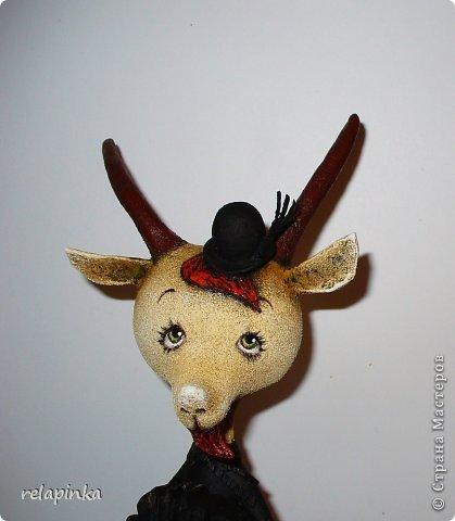 Игрушка Мастер-класс Новый год Папье-маше Тирольский козлик Бумага фото 27