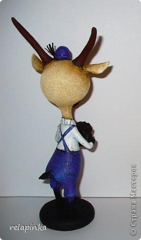 Игрушка Мастер-класс Новый год Папье-маше Тирольский козлик Бумага фото 30