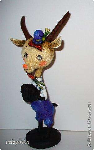 Игрушка Мастер-класс Новый год Папье-маше Тирольский козлик Бумага фото 32