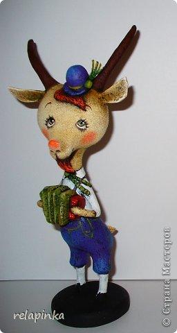 Игрушка Мастер-класс Новый год Папье-маше Тирольский козлик Бумага фото 35
