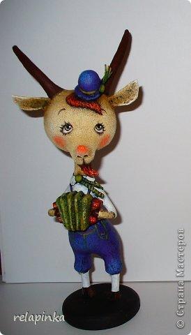 Игрушка Мастер-класс Новый год Папье-маше Тирольский козлик Бумага фото 36