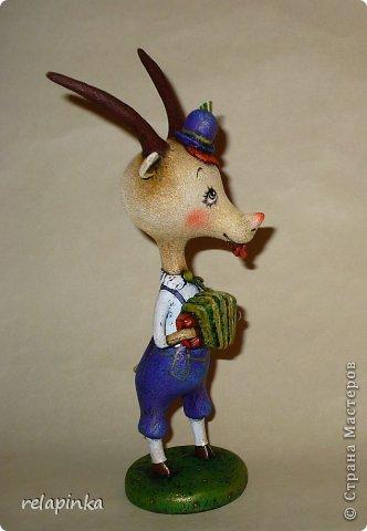 Игрушка Мастер-класс Новый год Папье-маше Тирольский козлик Бумага фото 41