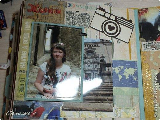 Ночь на дворе, фотоаппарат сел, а я пытаюсь вовремя загрузить фотографии )) Давно хотела сделать альбом про поездку в Испанию, но все руки не доходили, а тут подвернулся конкурс https://stranamasterov.ru/node/806291 и я подумала, что если не сейчас, то никогда)) Альбом с вырезками из буклетов, рисунками на крафт-бумаге акварельными карандашами. фото 16