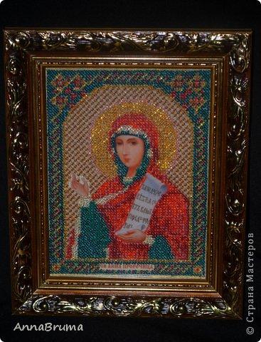 Икона Святой пророчицы Анны вышитая для себя