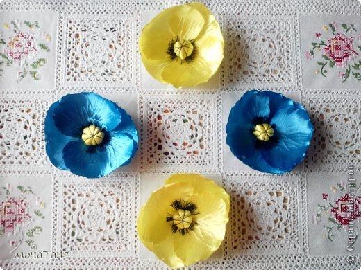 Мои первые цветы из лент фото 2