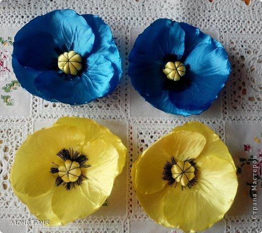Мои первые цветы из лент фото 1
