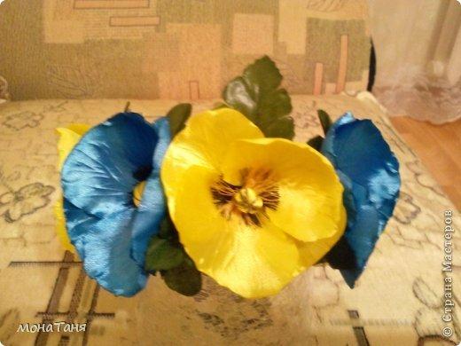 Мои первые цветы из лент фото 3