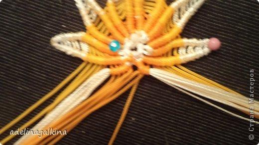 Мастер-класс Украшение Макраме  Техника плетения кулона Звёздочка  от Петерс Розы Нитки фото 17