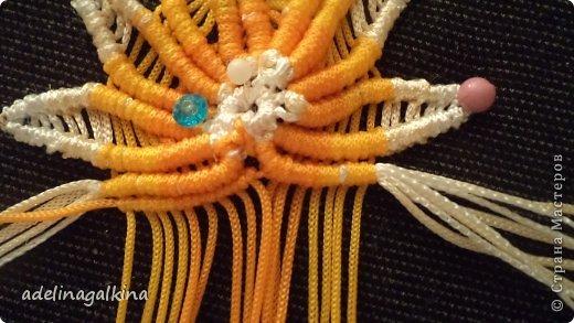 Мастер-класс Украшение Макраме  Техника плетения кулона Звёздочка  от Петерс Розы Нитки фото 18