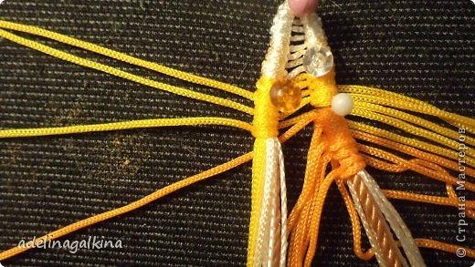 Мастер-класс Украшение Макраме  Техника плетения кулона Звёздочка  от Петерс Розы Нитки фото 6